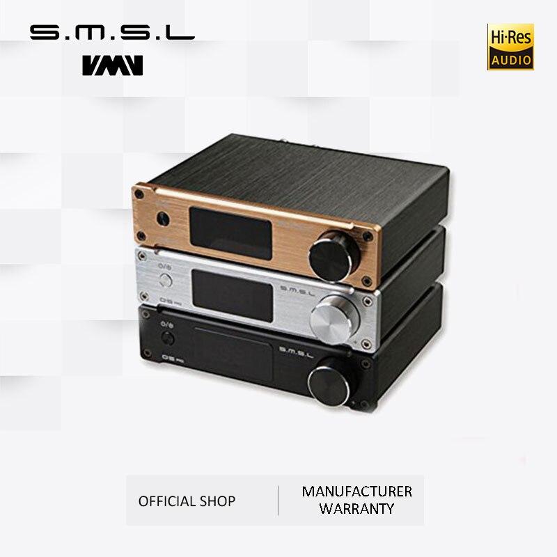 SMSL Q5 Pro Hi-Fi Audio Digital  Power Amplifier 2x45W  Control USB COAXIAL OPTICAL Input 192KHZ 44Bit Color Black Silver Gold