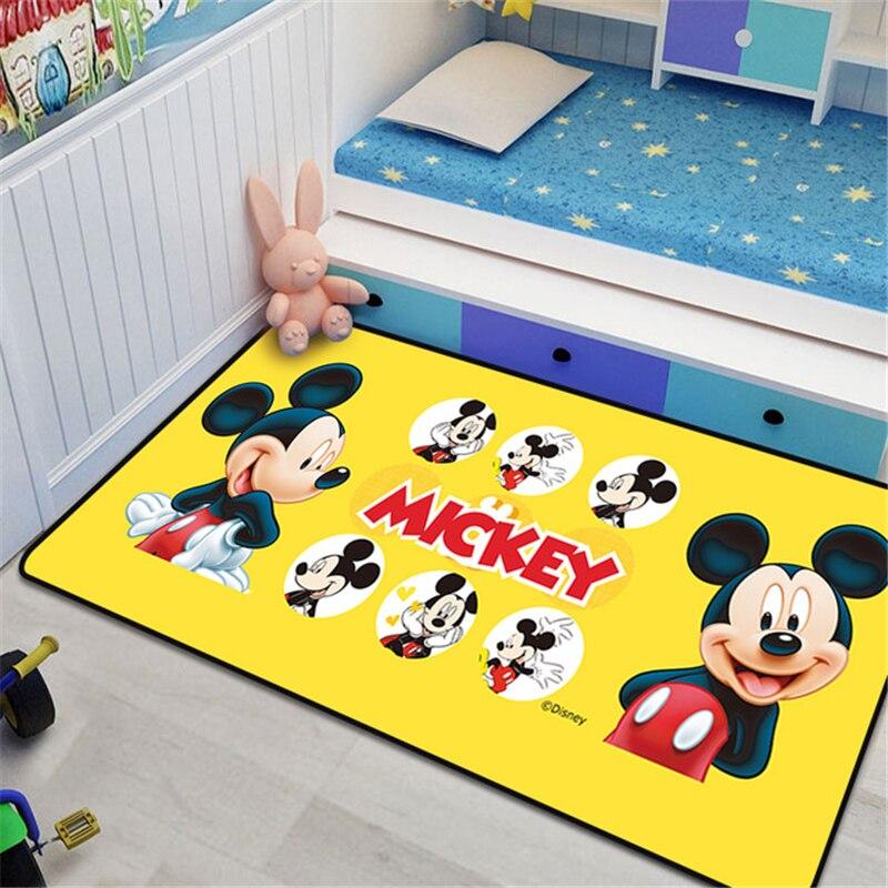 80x160 см желтый детский игровой коврик с Микки Маусом Нескользящие ковры для гостиной большой ковер милый напольный коврик Детские напольные...
