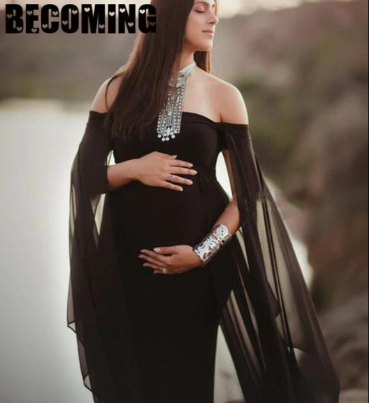 Short Sleeve Pregnant Dress Maxi Gown Maternity Dresses for Photo Shoot Pregnant Women Baby Shower Dress Pregnancy Clothes enlarge