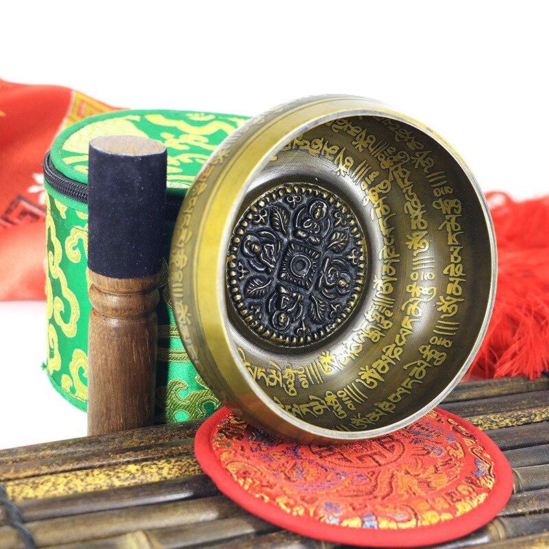 ¡Novedad del 2019! Juego de cuencos para cantar la fe, Mantra Yoga con Mazo, ornamento de regalo para el hogar, Chakra tibetana, meditación curativa de nepal