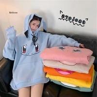 2021 hoodies women hip hop sweatshirt girls harajuku long sleeve japan hoodie streetwear cute cartoon hoodie men womens