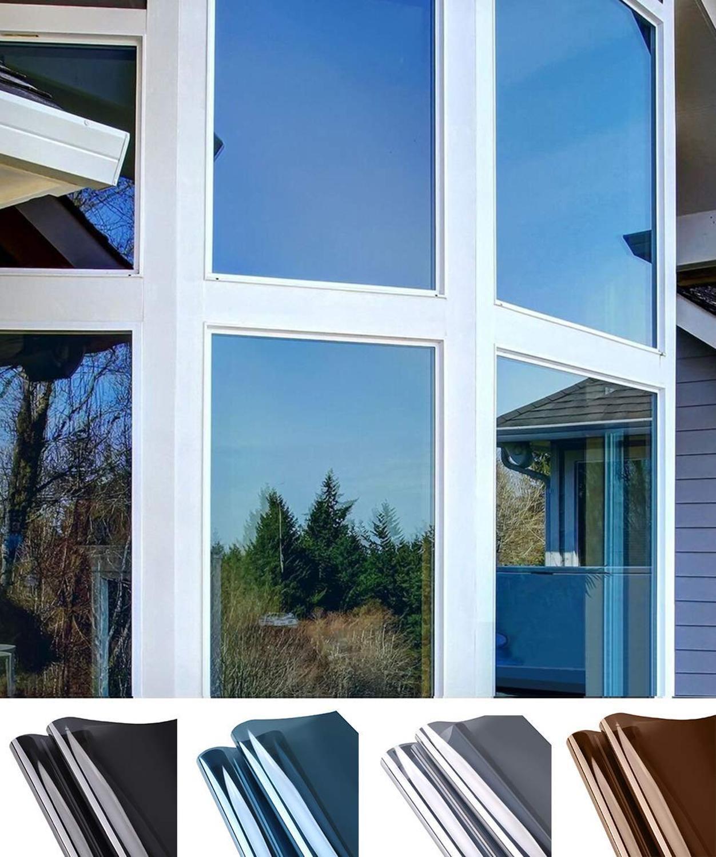 Window Privacy Film Sun Blocking Mirror Reflective Tint One Way, Heat Control Vinyl Anti UV Window S