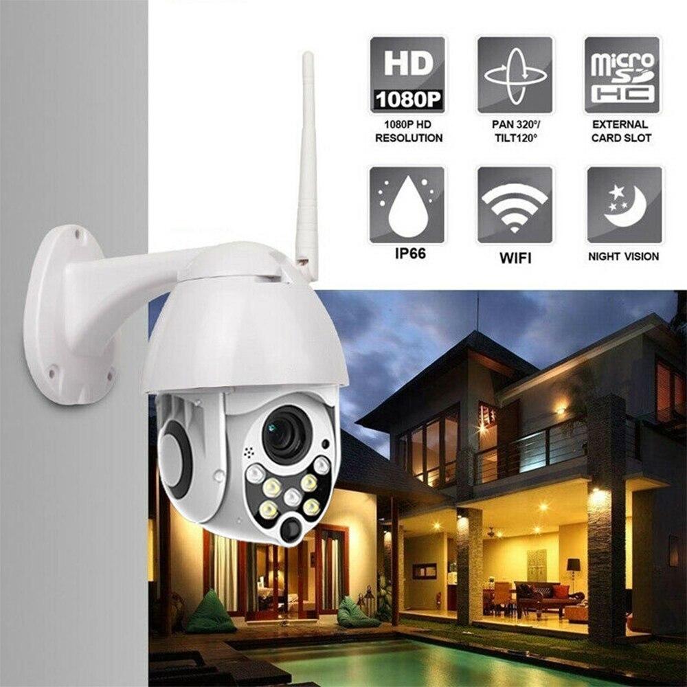 Cámara De Seguridad IP HD 1080P para exteriores, videocámara De vigilancia impermeable...