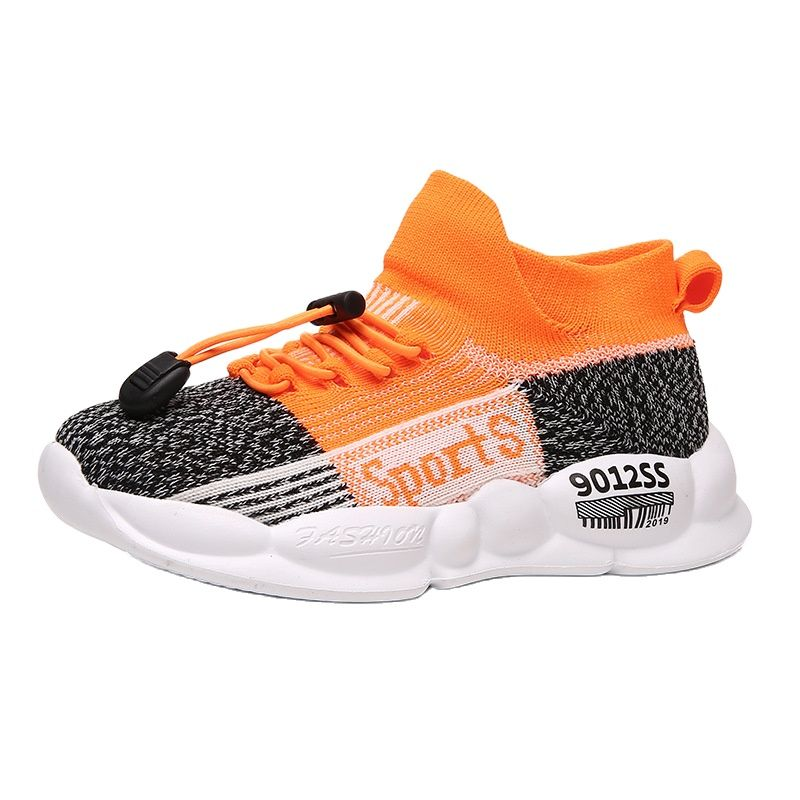 Autumn Boys' Shoes Running Flying Knitted Soft Sole Girls' Casual Shoes Children's Baby Shoes Sports Shoes Kid's Socks Shoes