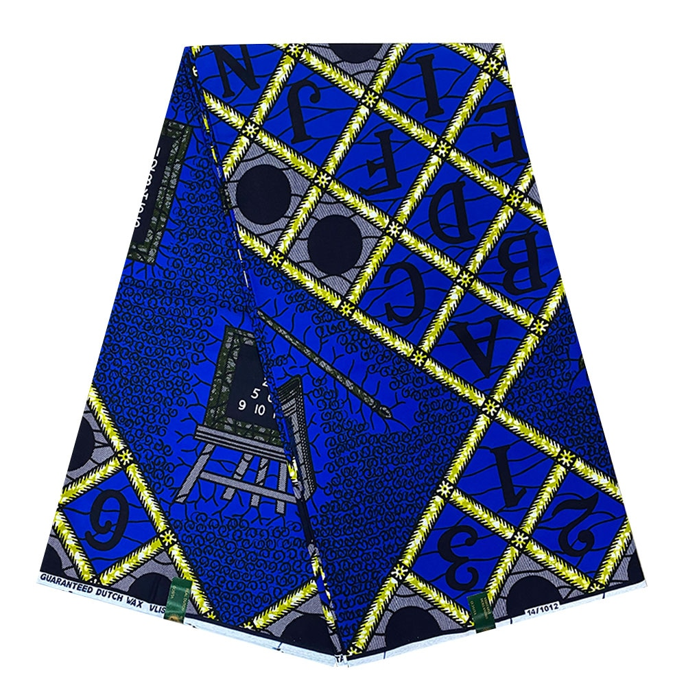 Ankara Fabric African Real Wax Print VeritableWax High Quality 6Yards For Party Dress