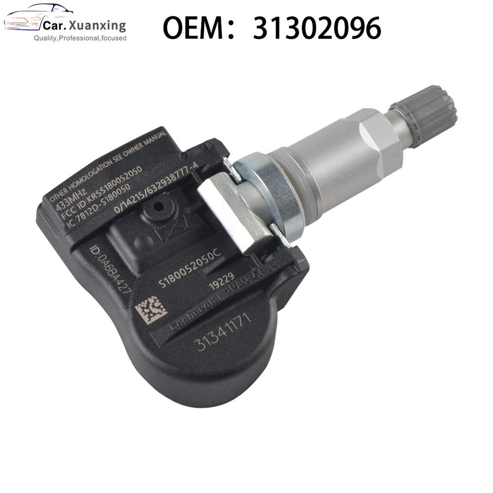 31302096 de Sensor de presión de sistema 433MHz para Volvo C30 C70 S60 S80 V60 XC60 XC70 S180052020