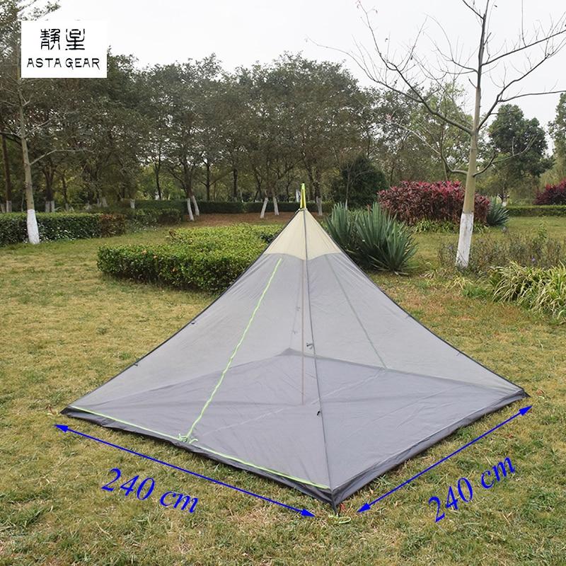ASTA 2 person/4 person 240*128*145 cm/240*240*145 cm große pyramide mesh innen zelt