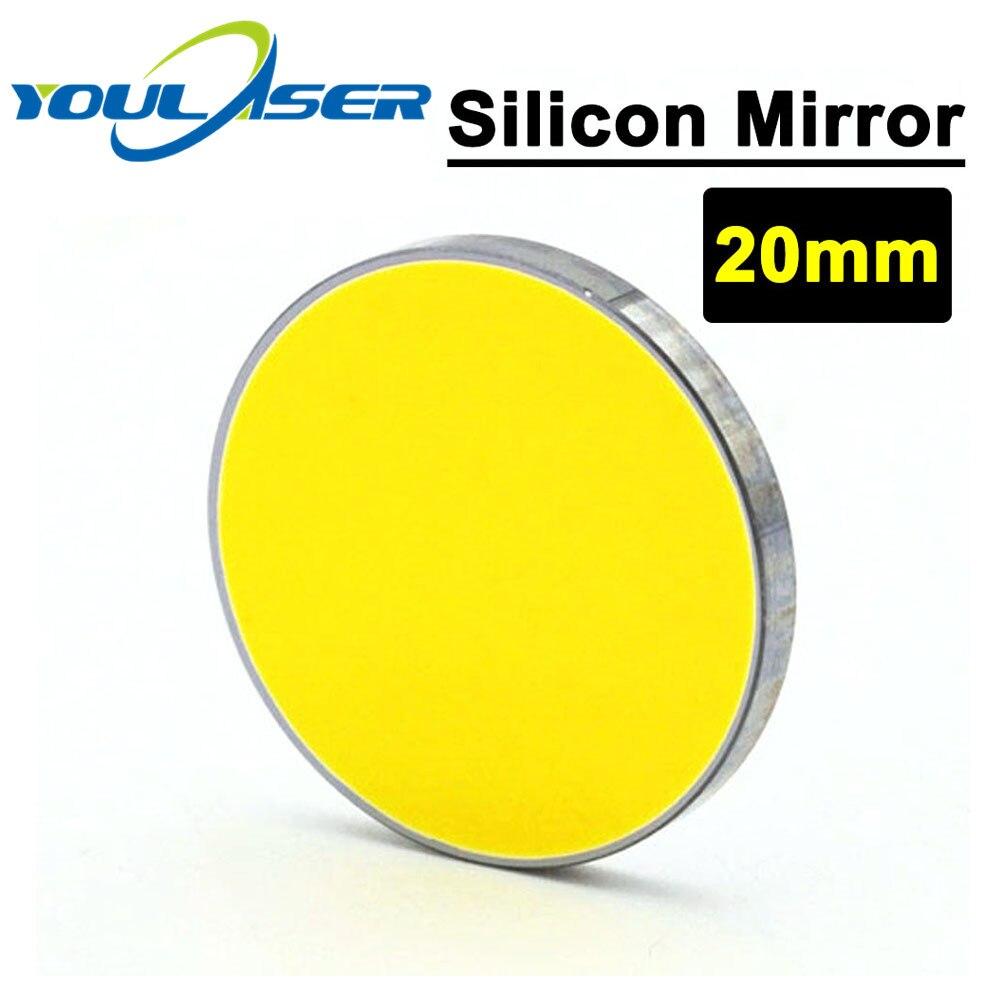 Espejo de reflexión de láser de silicona Co2 20mm de diámetro 3mm de espesor para máquina de corte por láser Co2