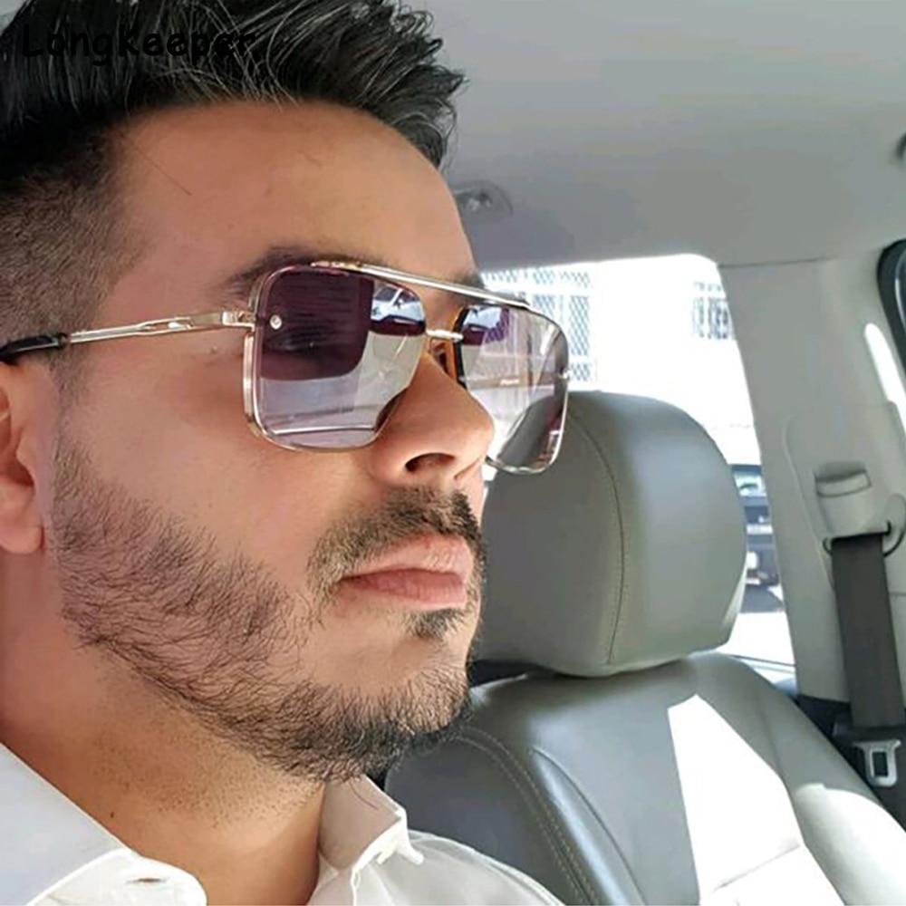 2021 модные крутые мужские очки для вождения, Летние Стильные градиентные коричневые солнцезащитные очки, Винтажные Солнцезащитные очки-авиаторы в стиле панк, солнцезащитные очки