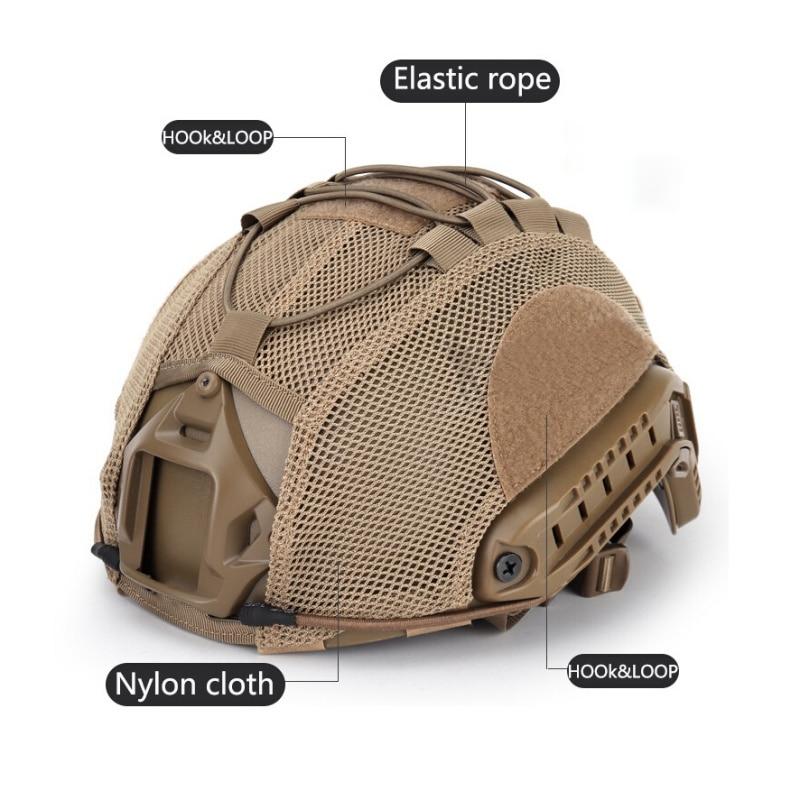 Airsoft MultiCam para caza casco cubierta CS Wargame Sport casco cubierta para Ops-Core FAST PJ casco gorra sombreros