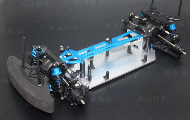 1/10 Alloy & Carbon Fiber 94123  G4 RC 4WD HSP Drift Racing Car Frame Body Kit RC Control  Car DIY Electric Model enlarge