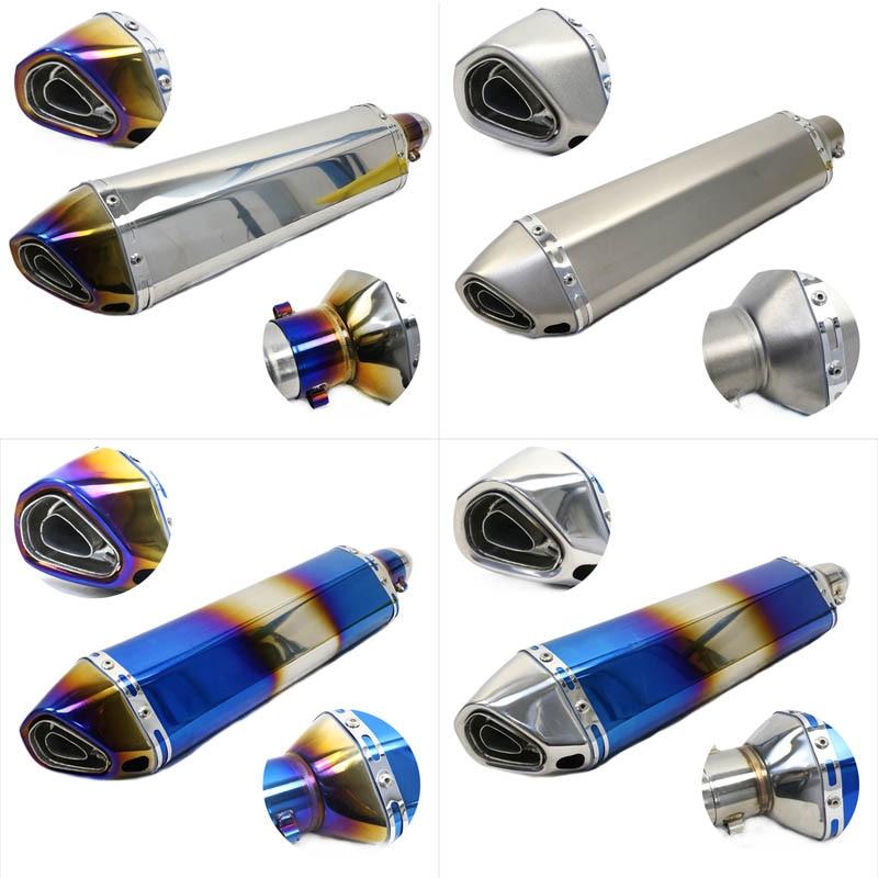 Silenciador de tubo de escape Universal para motocicleta de 51mm, silenciador de tubo Akrapovic, longitud de escape de 470mm, escape de acero inoxidable para R1 R6 gw250