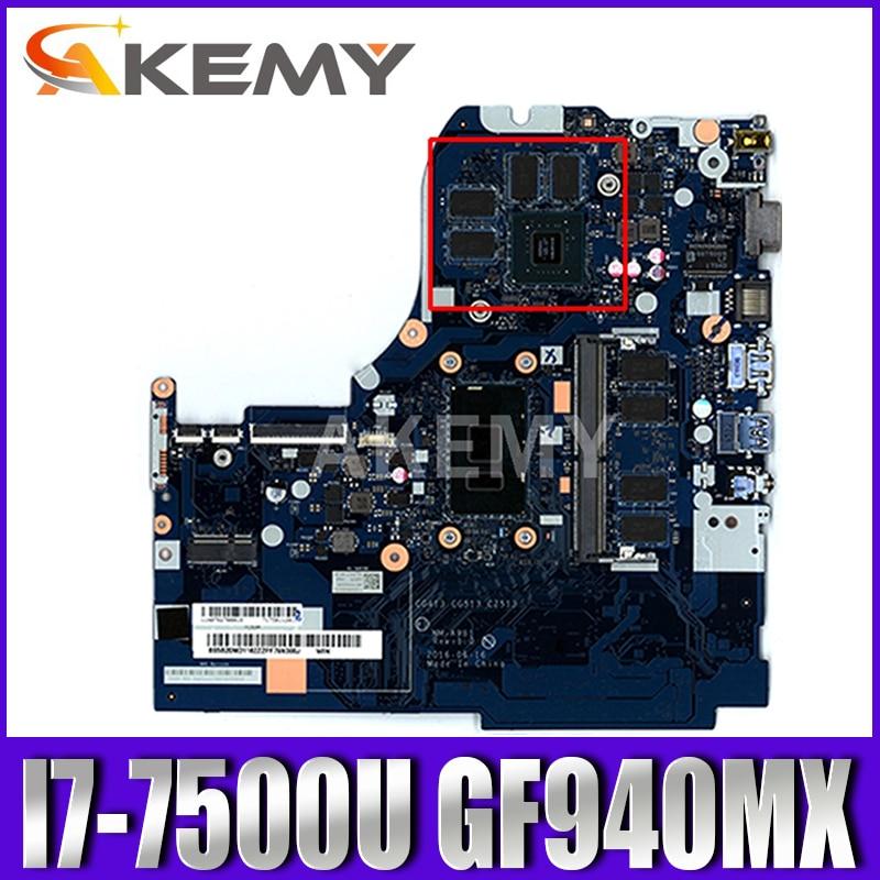 Akemy الأصلي لينوفو 510-15IKB اللوحة الأم Nm-A981 5B20M31162 اللوحة الرئيسية مع GF940MX 2 جيجابايت 4 جيجابايت رام i7-7500U المعالج