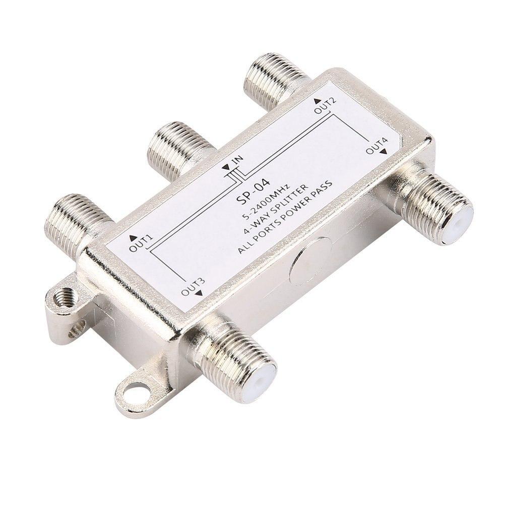 4-полосный спутниковый/антенный/кабельный ТВ сплиттер дистрибьютор 5-2400 МГц F Тип оптовая продажа дропшиппинг