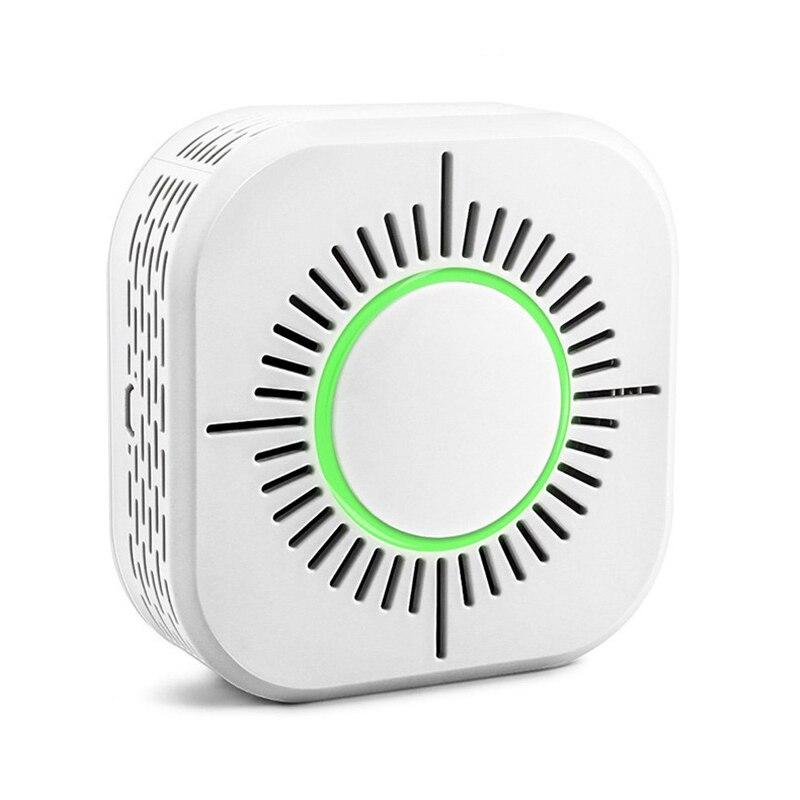 Detector de humo RF433, Sensor inalámbrico de alarma contra incendios, alarma de protección de seguridad para la automatización del hogar, trabajar con el puente Sonoff RF