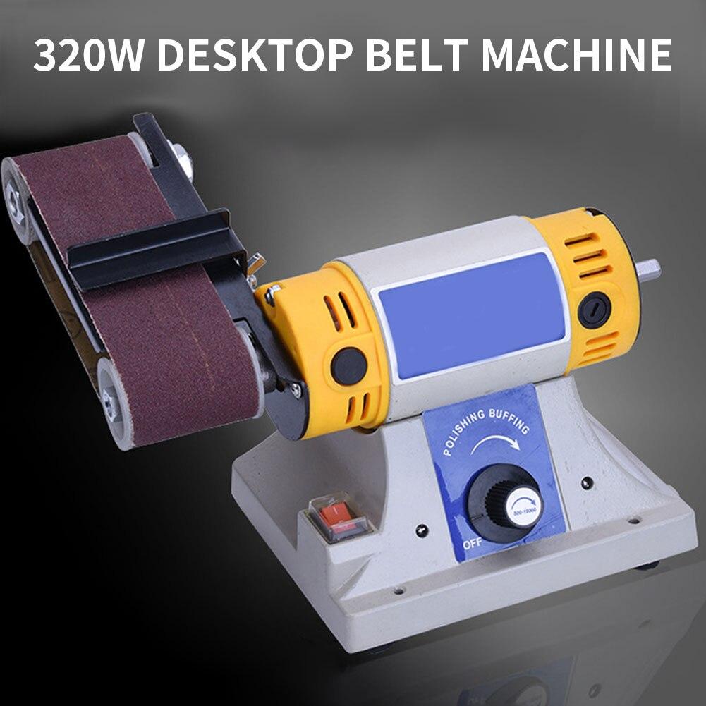Bench Belt Sander Desktop Multifunction Disc Sander Grinder Polisher For Wood Working Metal Jade Sanding Electric Belt Machine