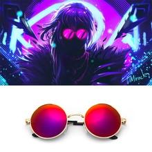 Jeu K/da Kda S8 Cosplay Evelynn rouge lunettes de soleil accessoire Akali Ahri Kaisa
