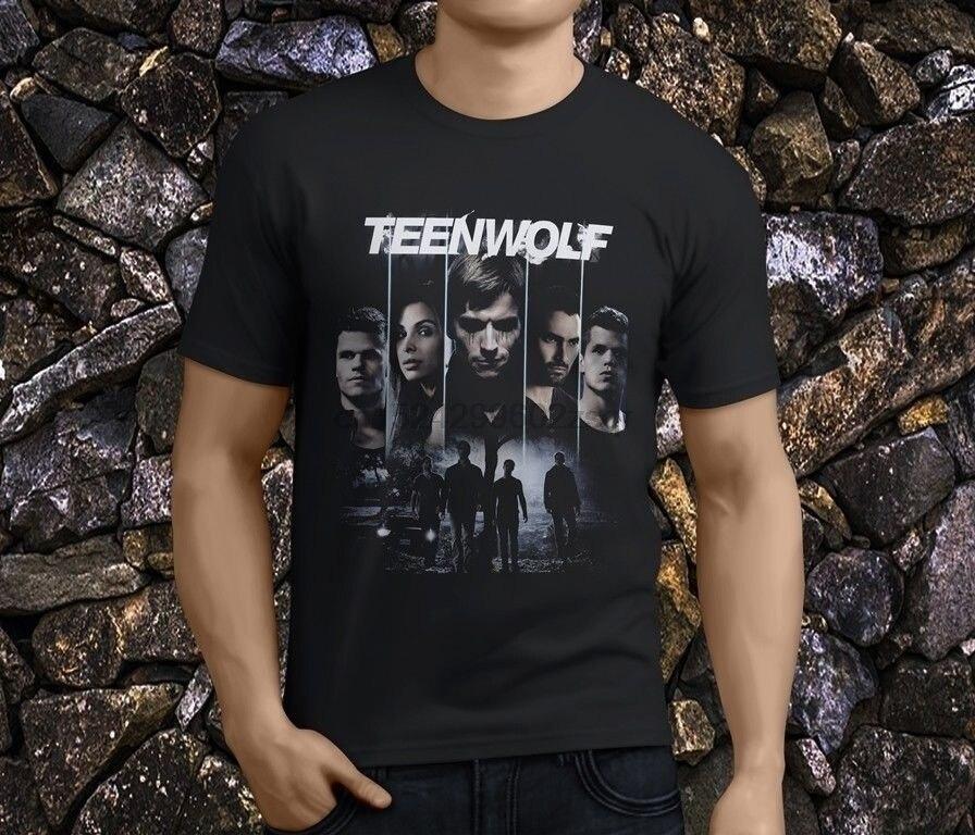 New Teen Wolf Series Men's Black T-Shirts Size S-3XL