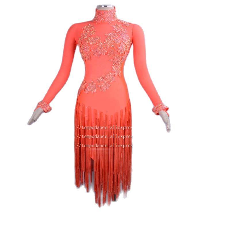 جديد فستان رقص اللاتينية النساء/السيدات ملابس رقص تشا تشا مسابقة فساتين الرقص