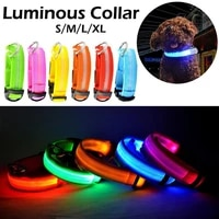 usb charger led lights dog collars night safety anti lost flashing nylon pet necklace glow in dark collar for small dogs