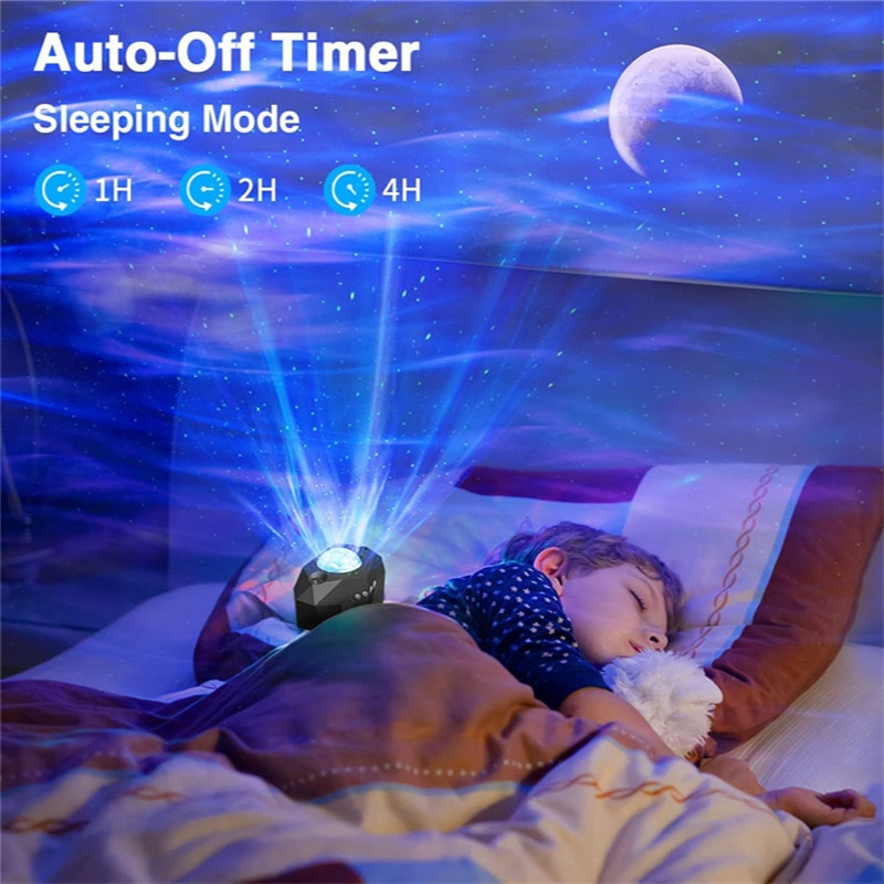 North Light Space Aurora Night Light Star Projector Nebula Moon Lamp Led Galaxy Light Starry Sky Projector with Music Speaker enlarge