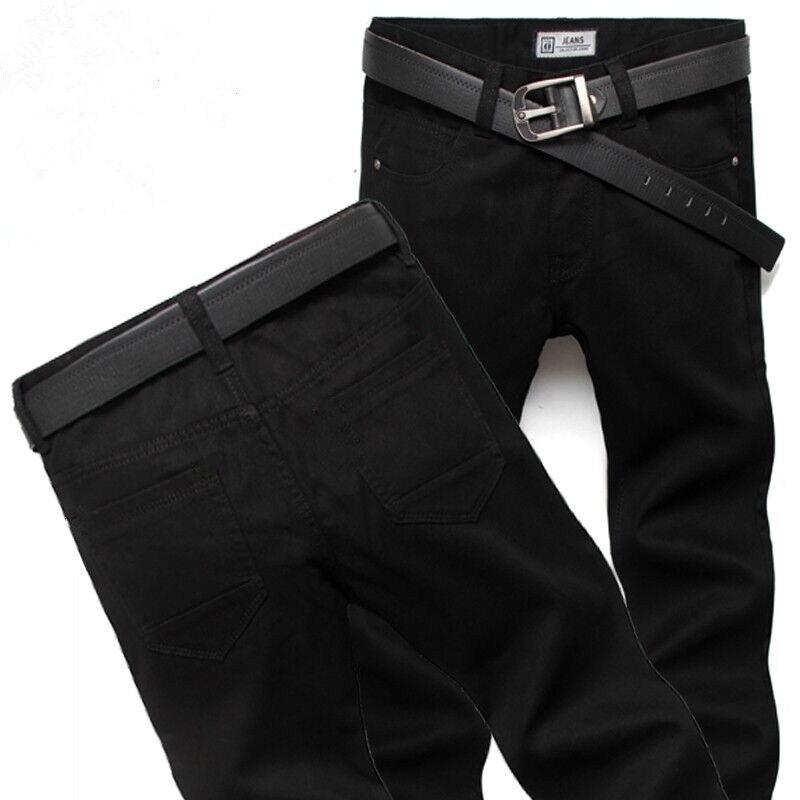 Мужские технические прямые джинсы, мужские потертые джинсовые брюки, байкерские джинсы, рваные джинсы для мужчин, зимние джинсовые брюки, ч...