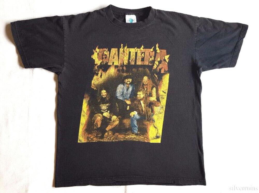Pantera Vintage T camisa 2000 reinventando el acero Tour concierto ciudades L Lp