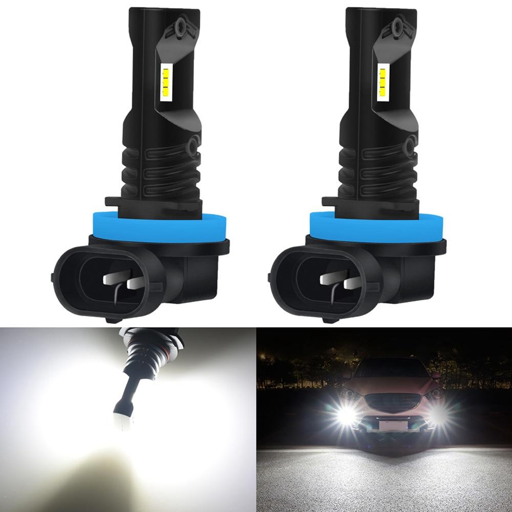 2 uds 1600LM H8 H11 9005 9006 H16 bombilla para luces antiniebla LED 12V 12V 880 H3 H10 PSX24W coche DRL lámpara para Mazda 3 6 CX-5 323 5 CX5 2 626 MX5
