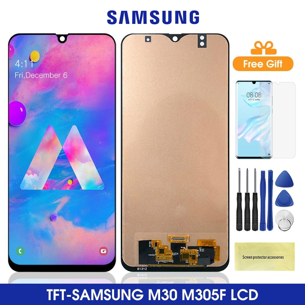 2340*1080 M305 wyświetlacz Lcd do Samsung Galaxy M30LCD wyświetlacz z ekranem dotykowym Digitizer zgromadzenie dla Samsung M305 M305f