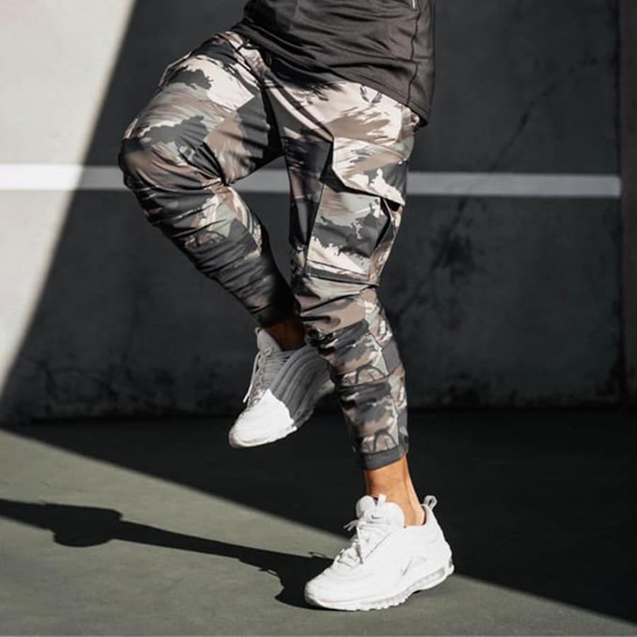 2021 Men Cargo Pants Camouflage Multi-Pocket 2020 Fitness Fashion Joggers Sweatpant Hip Hop Casual M