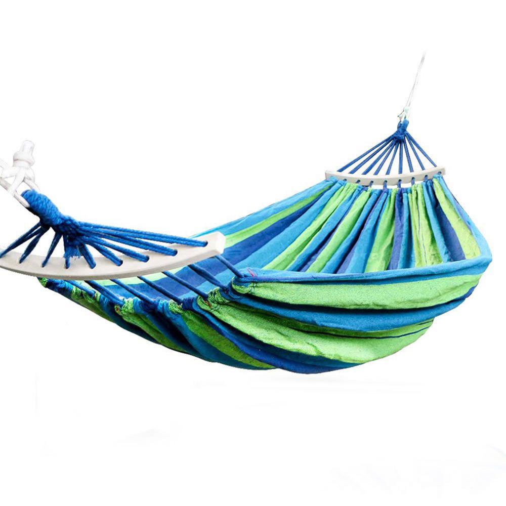 Hamaca doble 120kg portátil viaje colgante de Camping hamaca columpio silla perezosa hamacas de lona para senderismo Camping
