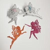 2 beautiful angel metal cutting molds scrapbooks diy photo albums photo frames decorative cards