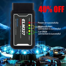 ELM327 V1.5 OBD2 Scanner PIC18F25K80 Bluetooth/wifi ELM327 Car Diagnostic Tool for Android IOS PK Vgate icar 2 OBDII Reader