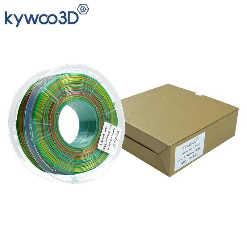 Kywoo3D قوس قزح متعدد الألوان خيوط للطابعات ثلاثية الأبعاد PLA 1.75 مللي متر 1 كجم المواد الاستهلاكية للطابعة FDM ثلاثية الأبعاد مواد الطباعة
