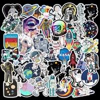 50pcs astronaut space station graffiti cartoon paste paper bag guitar skateboard suitcase waterproof kawaii children gift