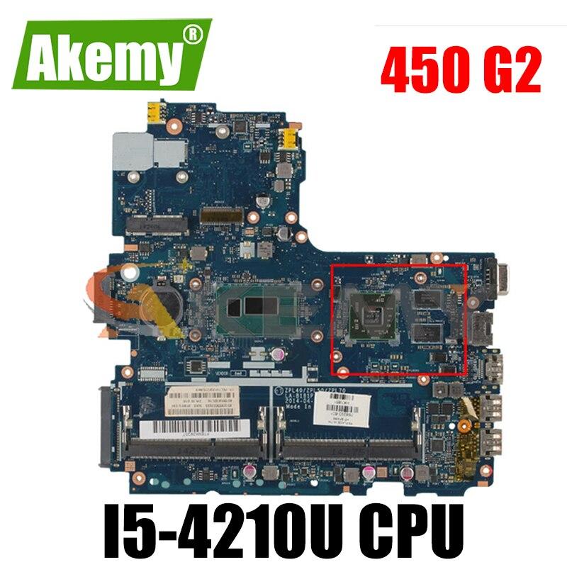 776581-601 776581-001 para HP Probook 450 G2 i5-4210U LA-B181P SR1EF 216-0858030 DDR3 Laptop Motherboard Notebook Mainboard