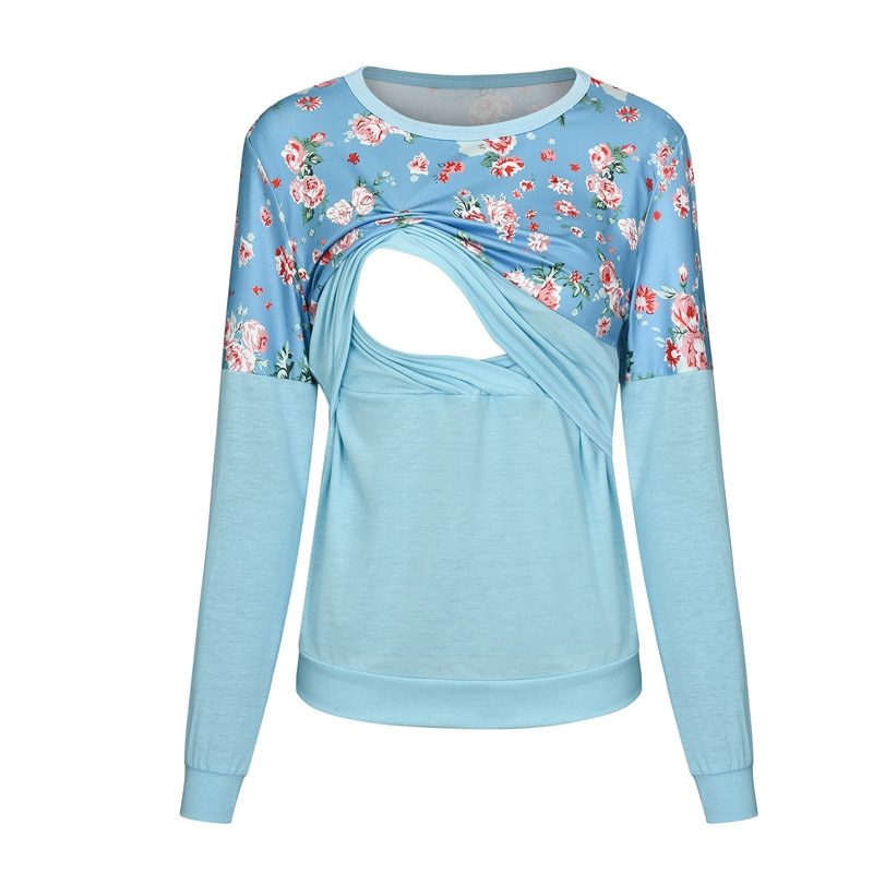 Maternity Tops Vetement Women Maternity T-shirt Long Sleeve Solid Color Nursing Tops For Breastfeeding Shirt Pregnancy Clothes enlarge