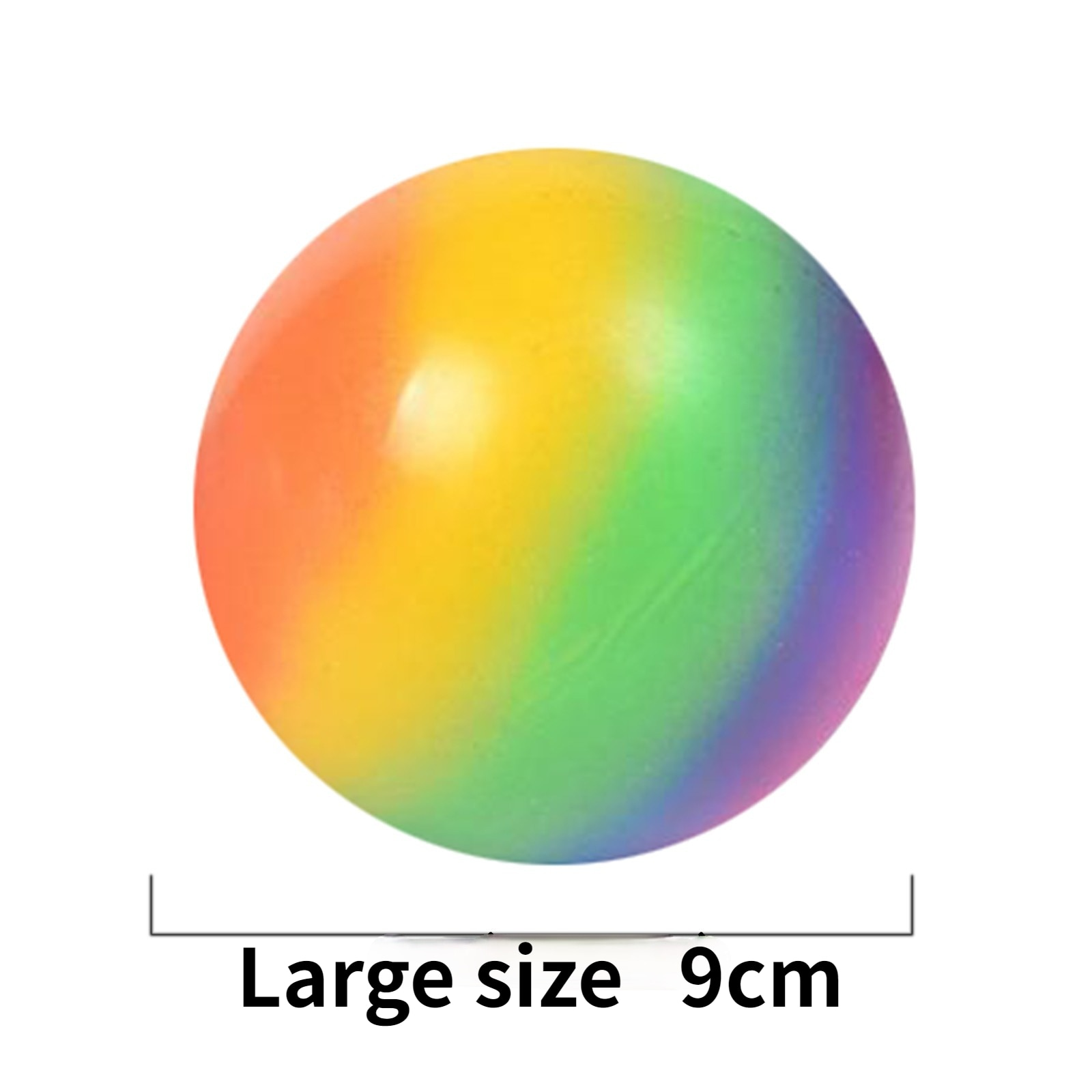 Large Size 9CM Rainbow Pressure Ball Pressure Toy Fidget Toys Stress Relief  Stress Toys  Squishes  Squishy Ball enlarge