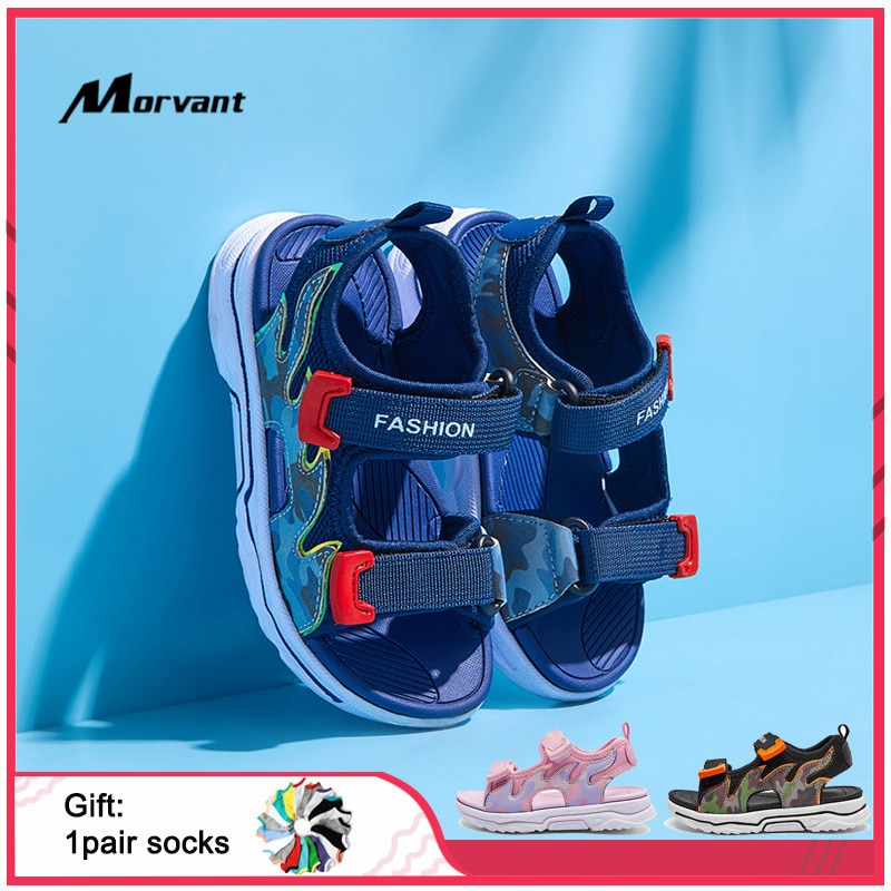 Kids Sandals Fashion Comfortable Children's Sandals Soft Space Leather Boys Girls Shoes EVA Non-slip Lightweight Kids Sandal