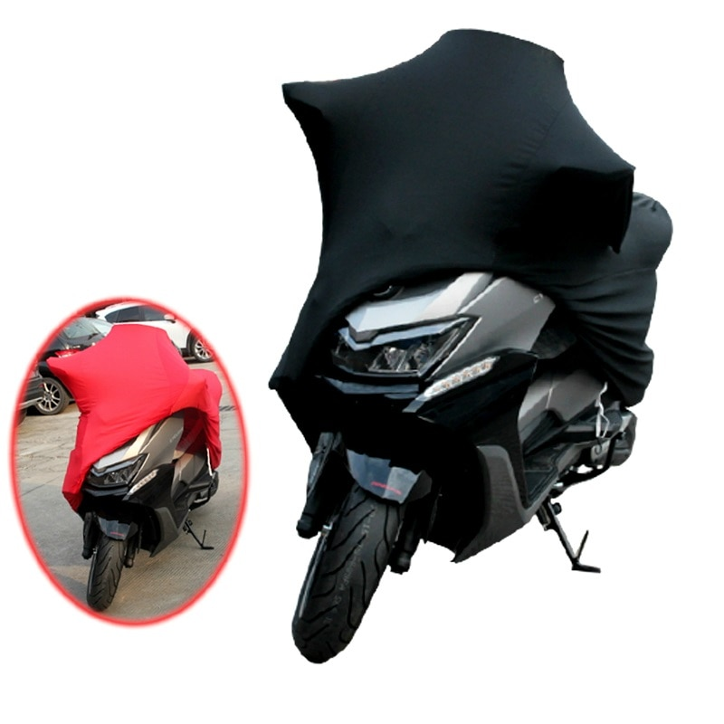 Universal 2 Colors M -4XL Motorcycle Covers UV Protector Cover Motor Scooter Bike Dustproof Cover Indoor Outdoor Elastic Fabric