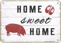 Decoration murale Vintage cochon pour maison  chambre  ferme  magasin  Club en metal  signe en etain  12x8 pouces