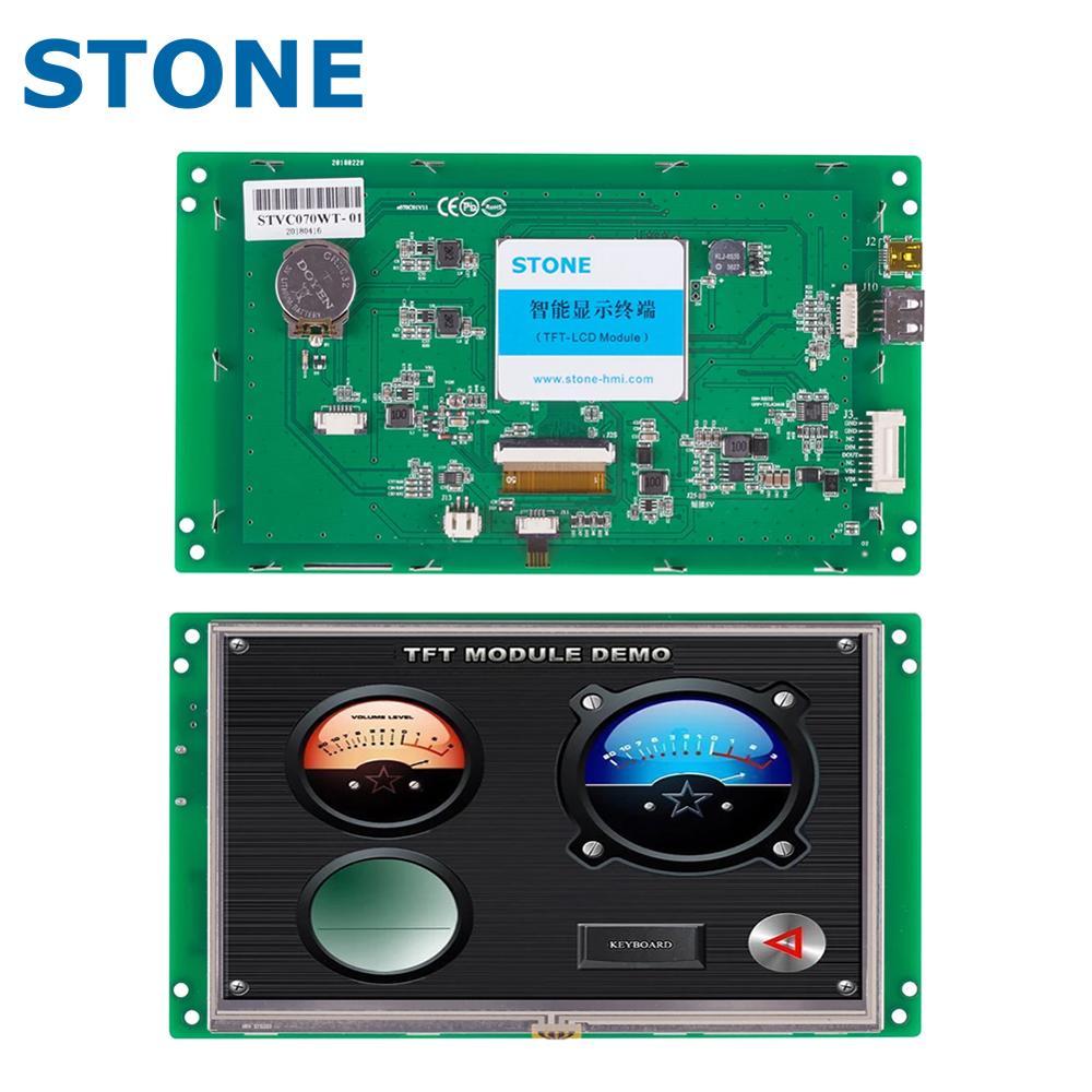 حجر HMI TFT وحدة LCD شاشة LCD تعمل باللمس مع RS232/RS485/TTL