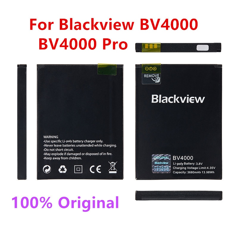 100% Original Backup Blackview BV4000 BV4000 Pro 3680mAh Battery For Blackview BV4000 BV4000 Pro MTK6580A Smart Mobile Phone недорого