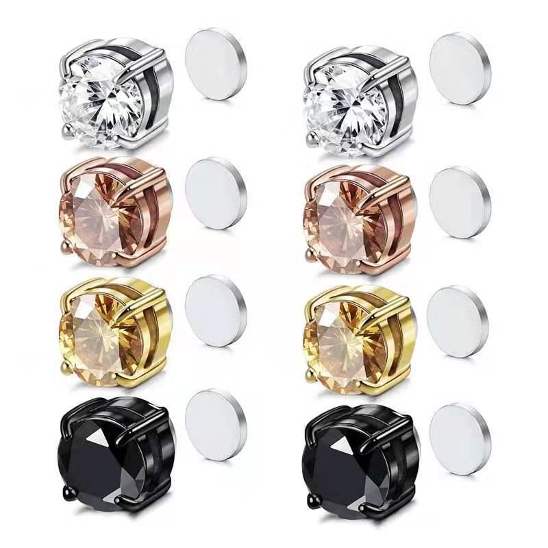 Серьги-с-плоской-задней-поверхностью-из-нержавеющей-стали-с-инкрустацией-алмазным-цирконием-без-пирсинга-Магнитные-Модные-клипсы-для-уше