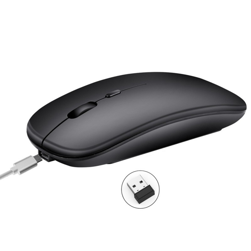 2.4G Wireless Mouse Rechargeable Charging Ultra-Thin Silent Mouse Mute Office Notebook Mice Opto-electronic For Home Office