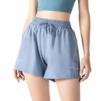 women yoga shorts summer casual sports stretchy high waist 2 in 1 joggers sweat training pants