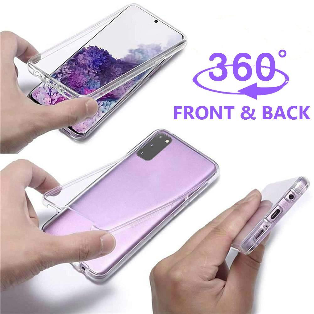 360 Protector Clear Phone Case For Samsung Galaxy A41 A51 A 71 50 Cover Case Soft Flex Front+Back Armor A71 A 41 A 51 Funda Capa