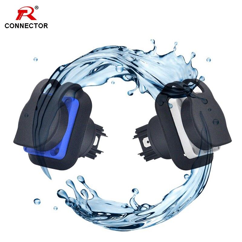 1 шт. водонепроницаемый разъем для подключения к корпусу Power con 20a 3 контакта разъем для крепления на панель, для сценического светильник светодиодный аудио-видео