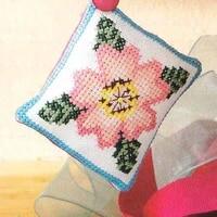 cross stitch pin neddle cushion 059b 14ct biscornu needlework diy kit embroidery set counted cross stitching pincushion