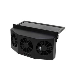 Автомобильный Вентилятор, вентиляция, солнечный автомобиль, три капота, авто вытяжной вентилятор, радиатор, Солнечный автомобильный Desuperheater Power ful Power-черный